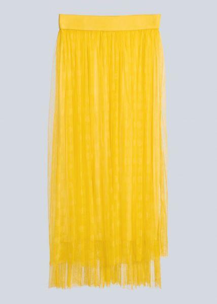 Gepunkteter Tüllrock, gelb