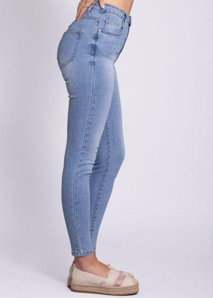 Super highwaist Jeans, hellblau