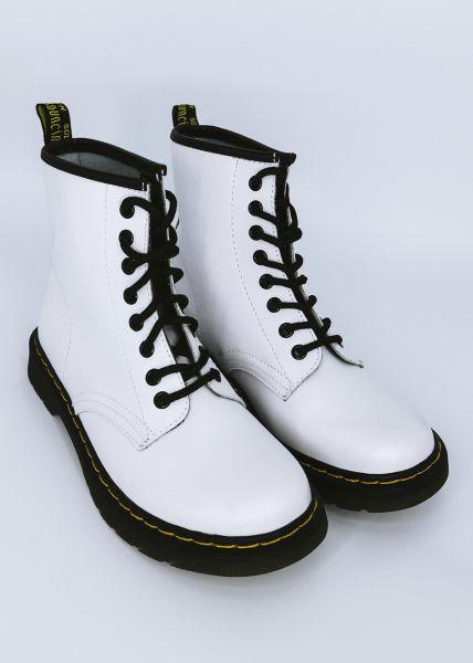 Leder-Boots, weiß