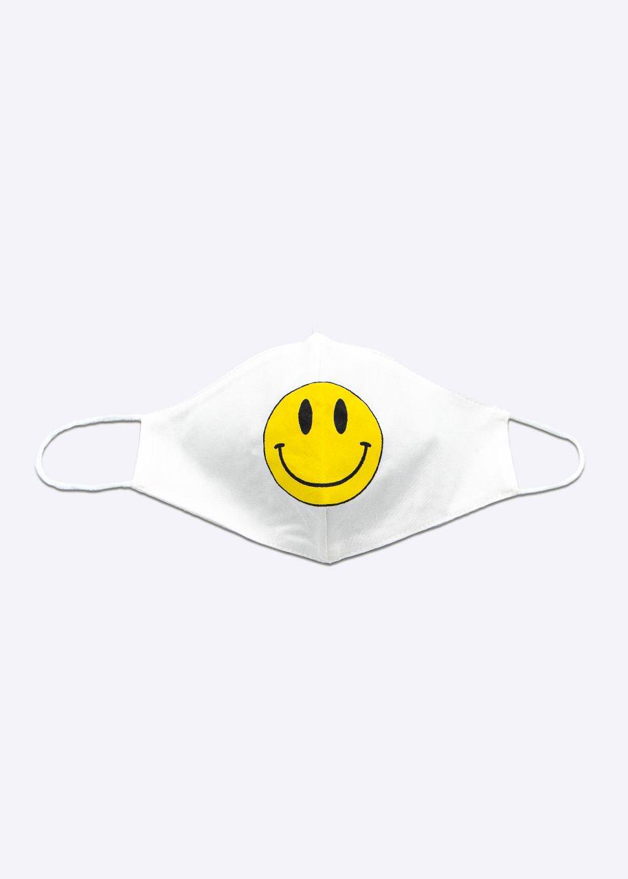 Stoffmaske SMILEY, weiß