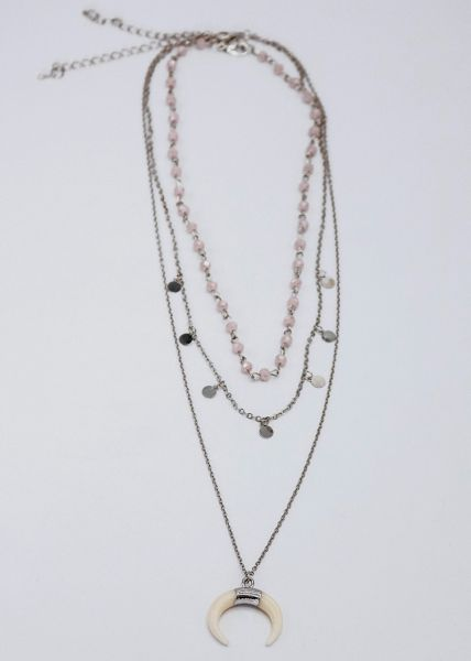 Layer Kette, silber
