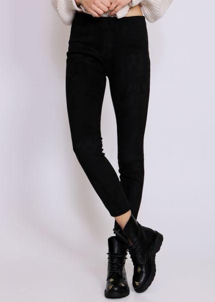 Velvet-Leggings, schwarz