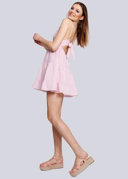 Kleid mit Spitzenborten, rosa