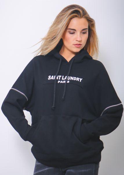 Oversize Sweatshirt, schwarz