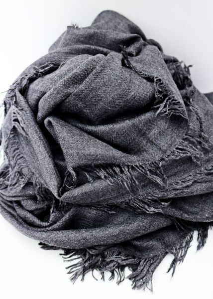 Hauchfeiner Schal, grau