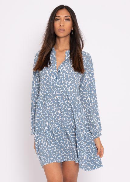 Tunikakleid mit Print, blau