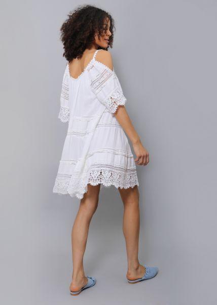 Hängerchen-Kleid mit Spitze, weiß
