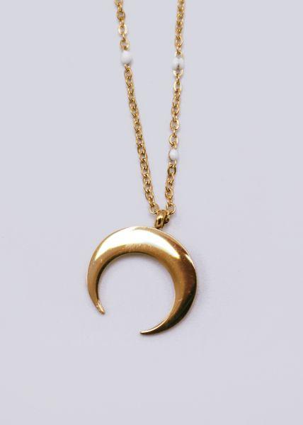 Halskette mit Mond, gold