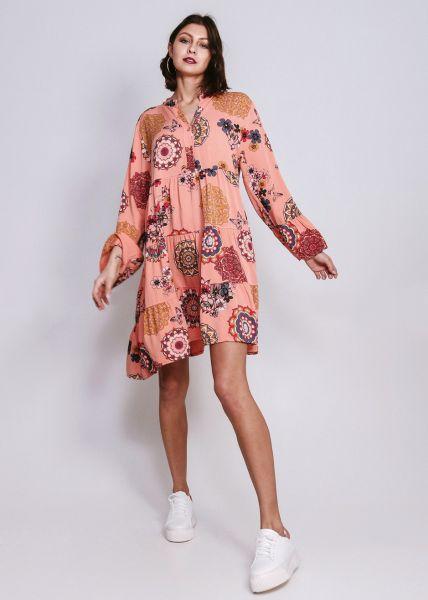 Oversize Hängerchenkleid mit Print, coral