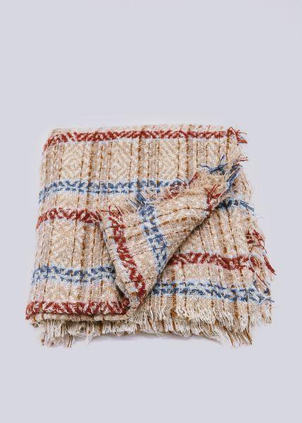 Karo-Schal, beige