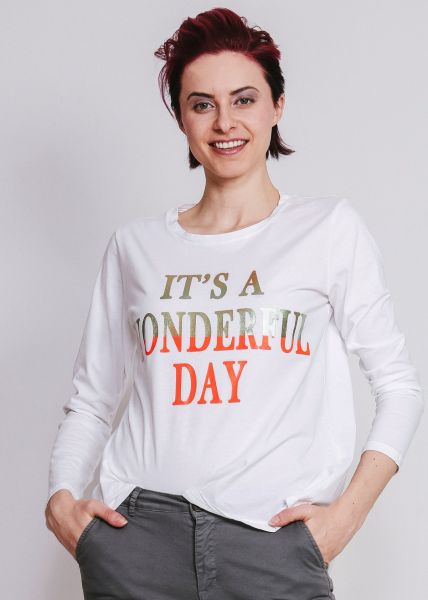 "T-Shirt ""WONDERFUL DAY"", weiß"
