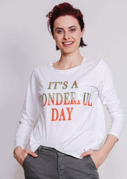 "T-Shirt ""WONDERFUL DAY"", weiß"