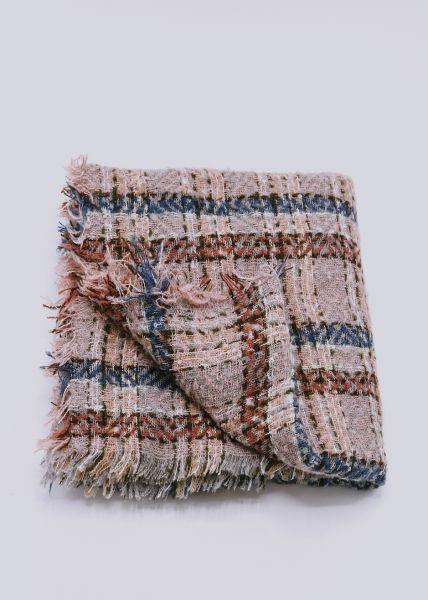 Karo-Schal, rosa