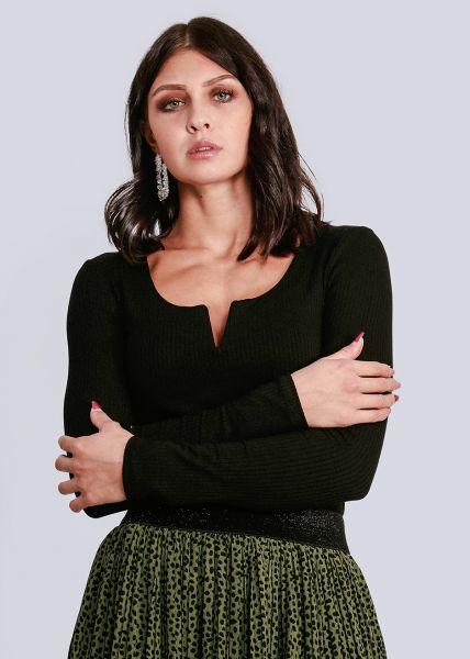 Langarm-Shirt, schwarz