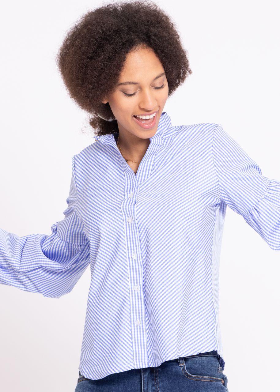Vichy-Bluse, blau