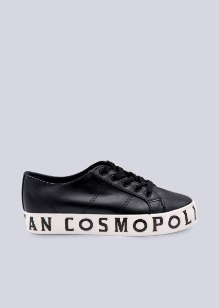 Sneaker mit Statement-Sohle, schwarz