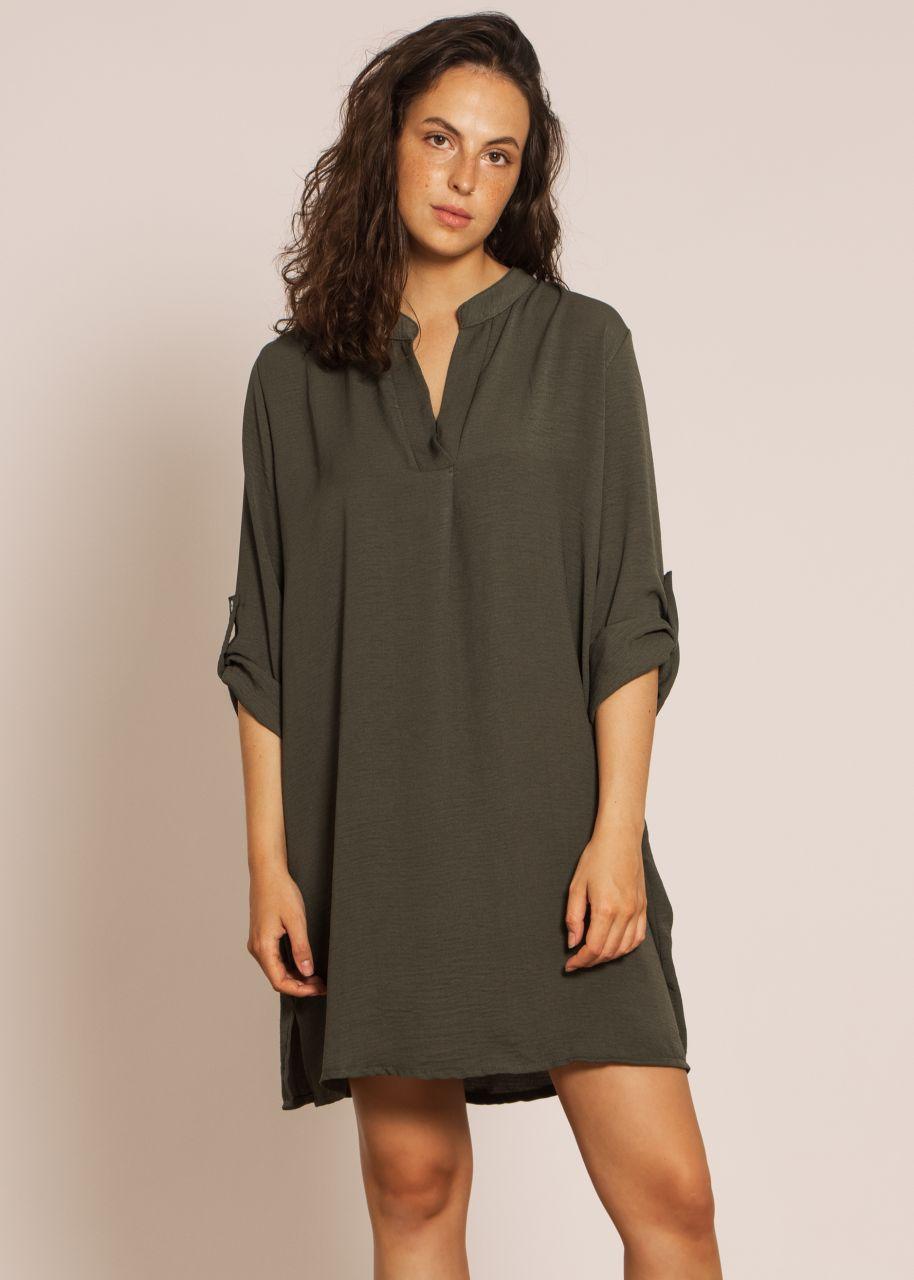 Tunika-Kleid, dunkelgrün