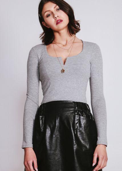 Langarm-Shirt, grau