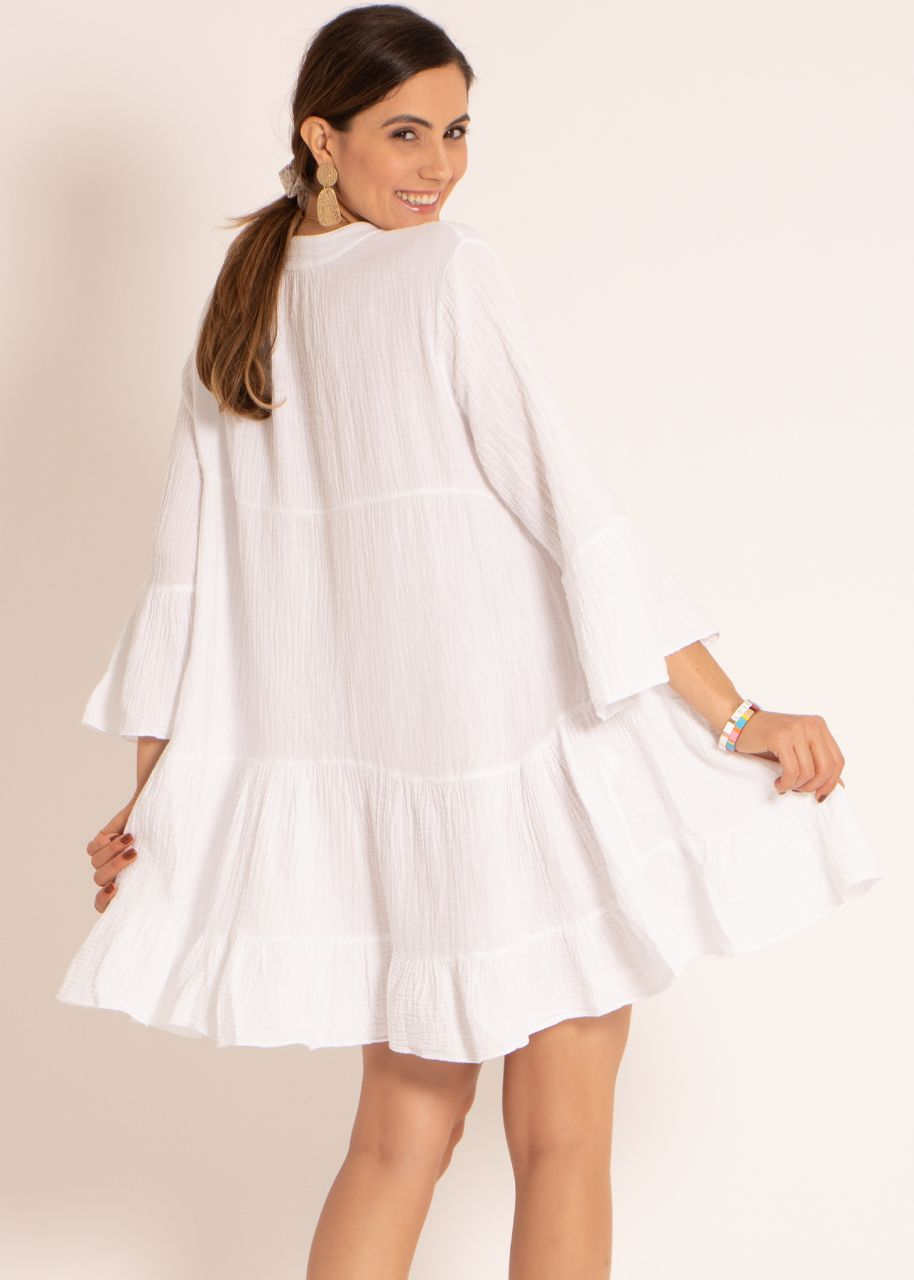Musselin-Kleid, weiß