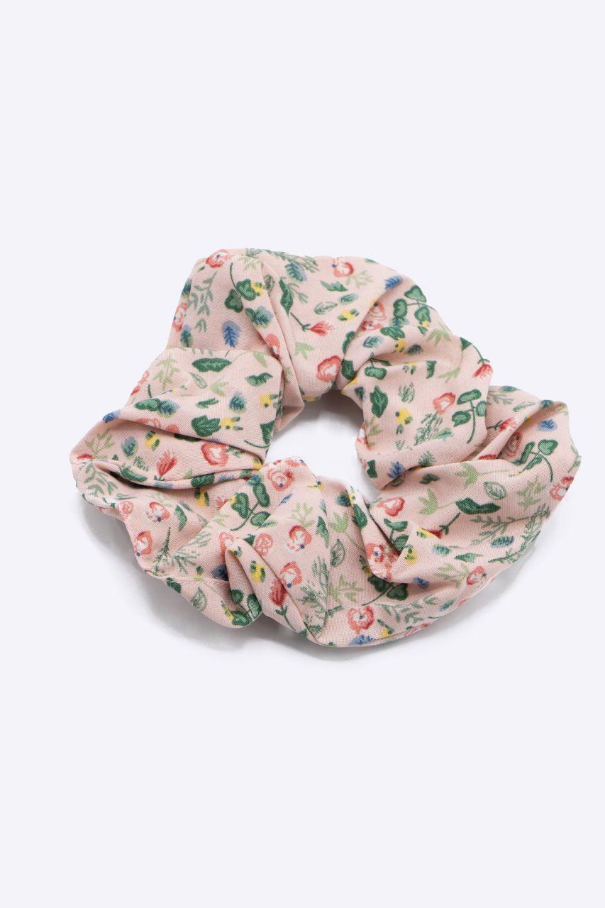 Scrunchie mit Blumen-Print, rosa