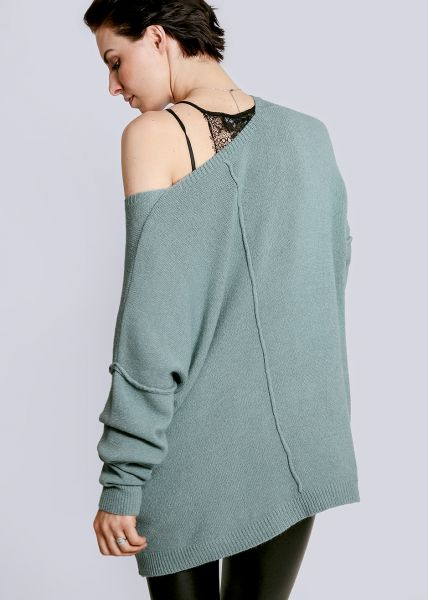 pretty nice 4bb00 a25a4 Oversize pullover with outside seams, green