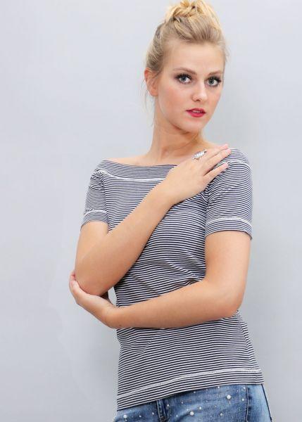 Streifen-Shirt, dunkelblau