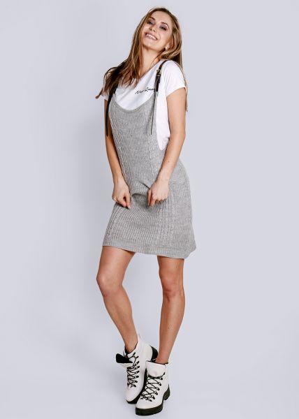 Strick-Trägerkleid, grau