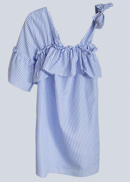 Asymmetrisches Minikleid, hellblau