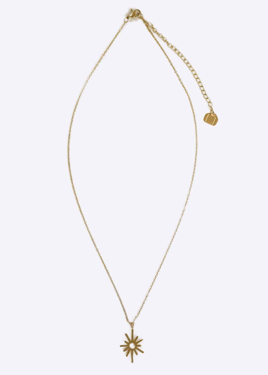 Halskette mit Anhänger, gold