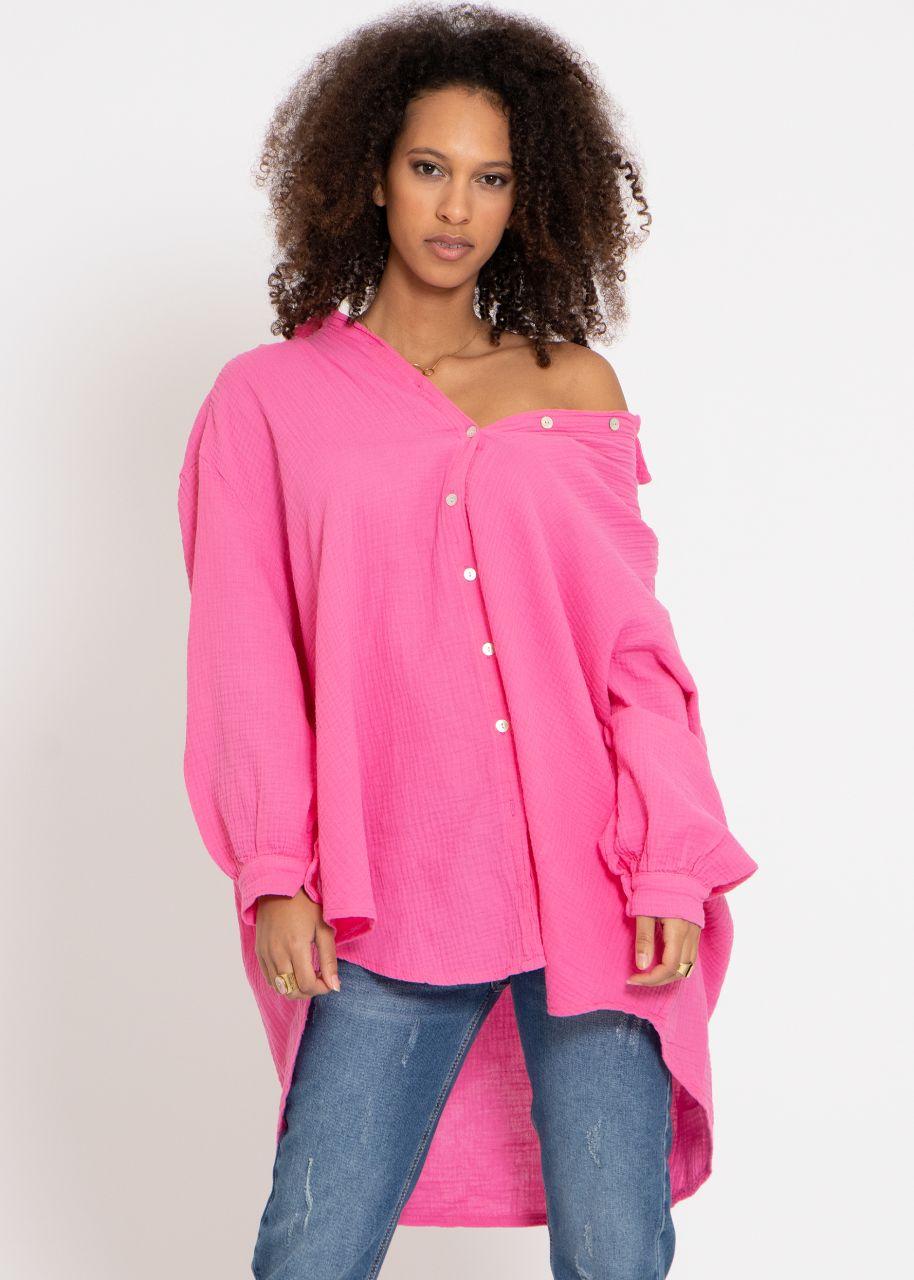 Ultra oversize Blusenhemd, pink