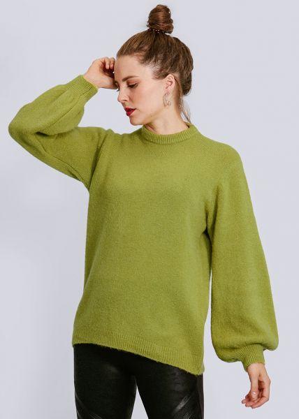 Pullover mit weitem Arm, pistaziengrün
