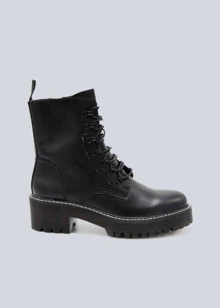 Boots mit Blockabsatz, schwarz