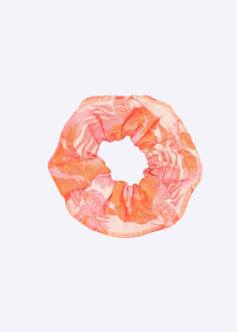 Scrunchie mit Print, orange