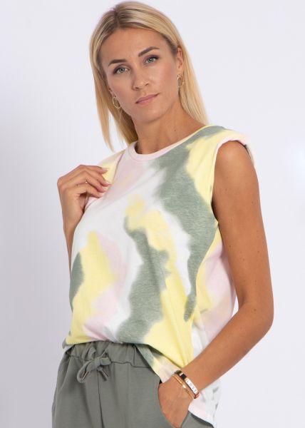 Batik-Shirt, khaki
