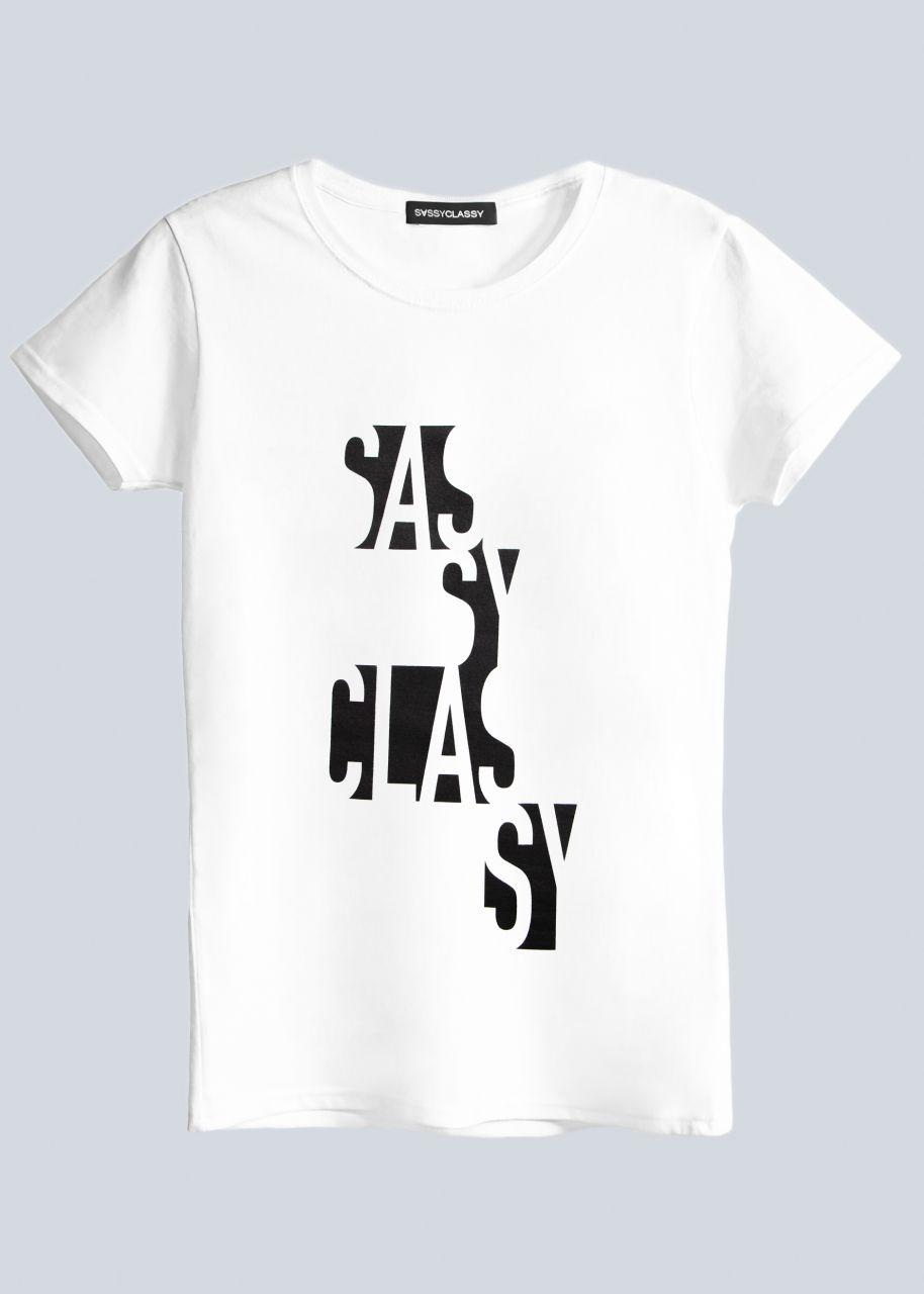 T-Shirt SASSYCLASSY, weiß