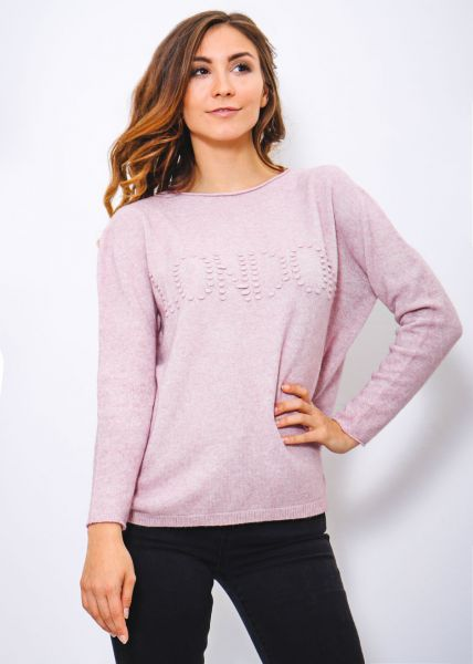 "Oversize ""LONDON"" Pullover, rosa"