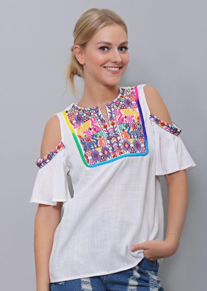 Tunika-Bluse, weiß
