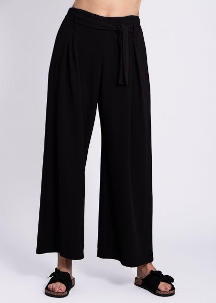 Jersey-Hose, schwarz