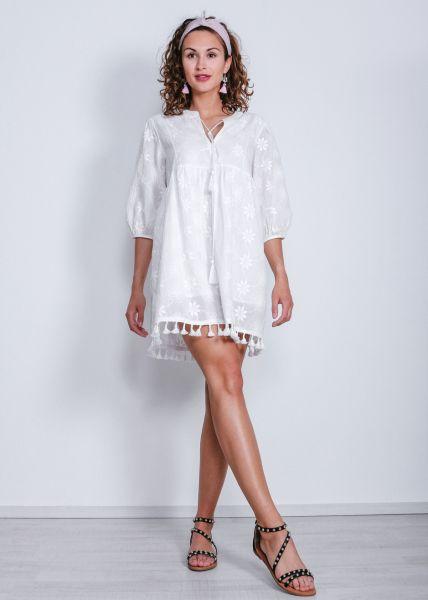 Tunika-Kleid, weiß