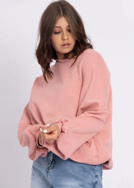 Sweatshirt mit eingearbeitetem Top, rosa