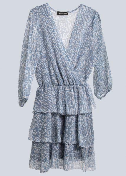 Kleid mit Glitzerstreifen, blau