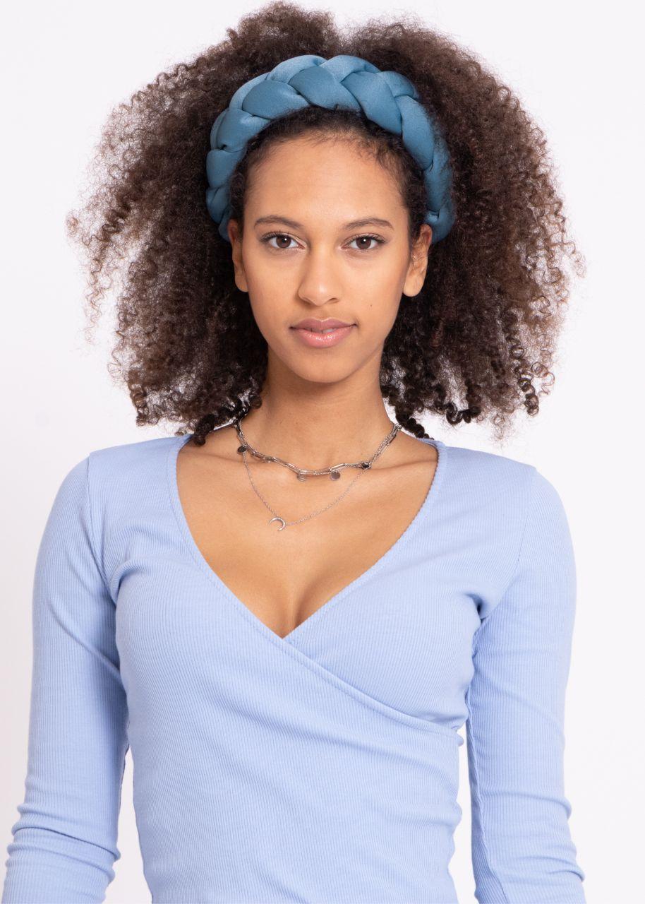 Geflochtener Haarreif, blau