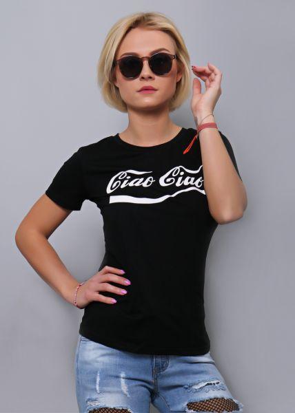 """""""Ciao Ciao"""" T-Shirt, schwarz"""
