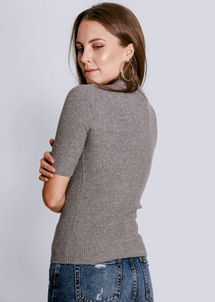 Kurzarm Pullover, grau