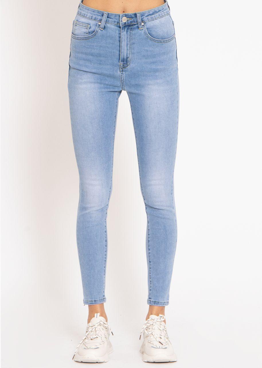 Highwaist Jeans, blau