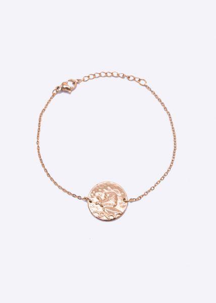 Armkette mit Sternzeichen Löwe, roségold