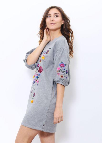 Sweatshirt-Kleid, grau