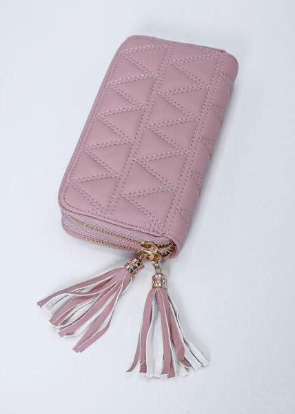 Geldbörse mit Stepperei, rosa