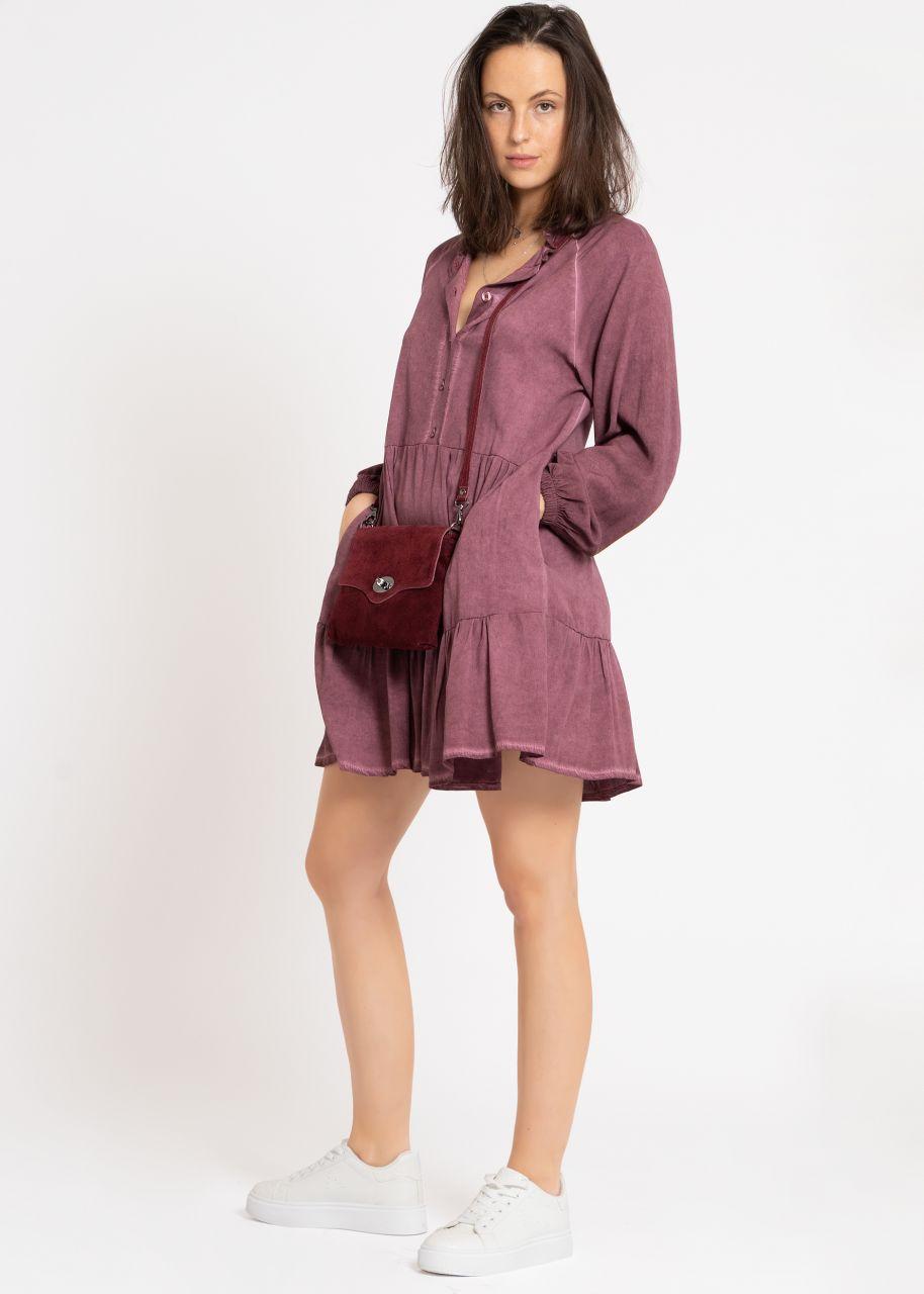 Hängerchenkleid mit Taschen, bordeaux