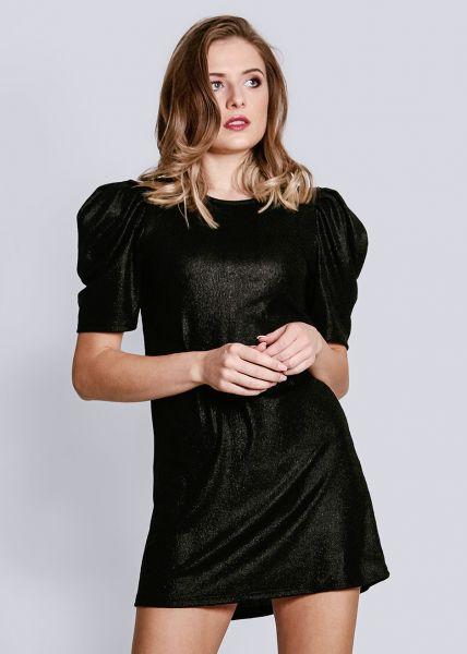 Cocktailkleid mit Puffärmel, schwarz